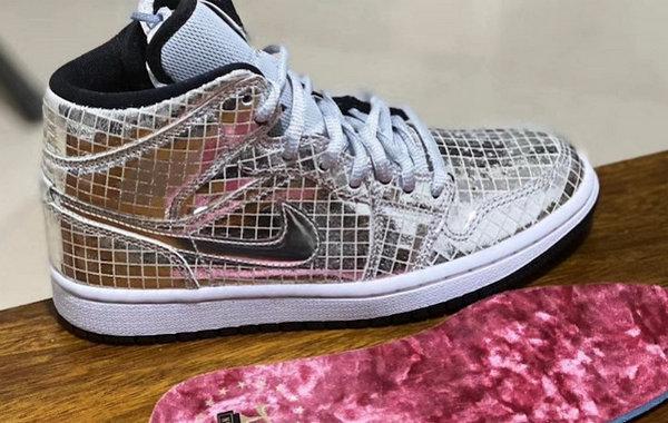 "Air Jordan 1 Mid""Disco Ball"" 全新配色鞋款首度曝光,闪闪惹人爱"