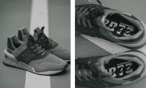 New Balance x MADNESS 997S 联乘亲友专属限定鞋款,拼接色调层次~