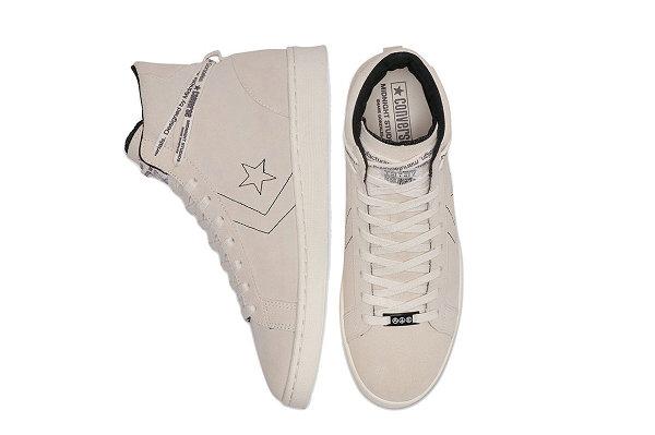 匡威 x Midnight Studios 联名脏粉配色 Pro Leather 鞋款即将发售
