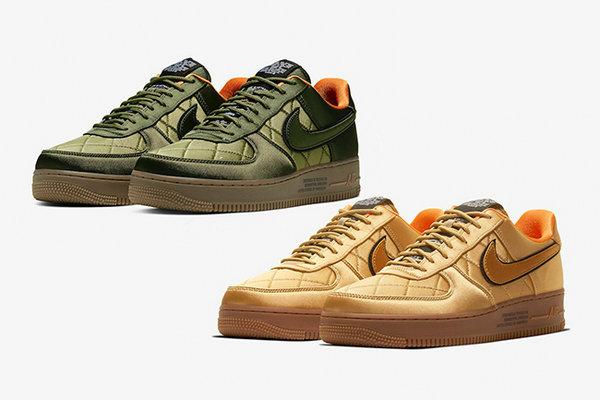 AF1 鞋款全新烫金、军绿两款绸缎配色曝光,气质出众