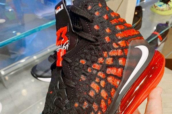 "LeBron 17 鞋款全新""Infrared""配色曝光,不要太吸睛"