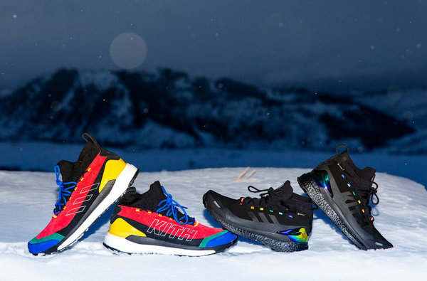 阿迪达斯 x Kith 全新联名 Terrex Free Hiker 鞋款释出