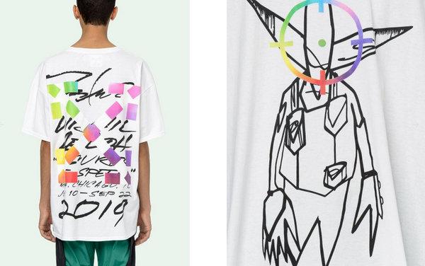 Off-White x Futura 全新联乘 Alien T恤开放预购,彩虹色标靶