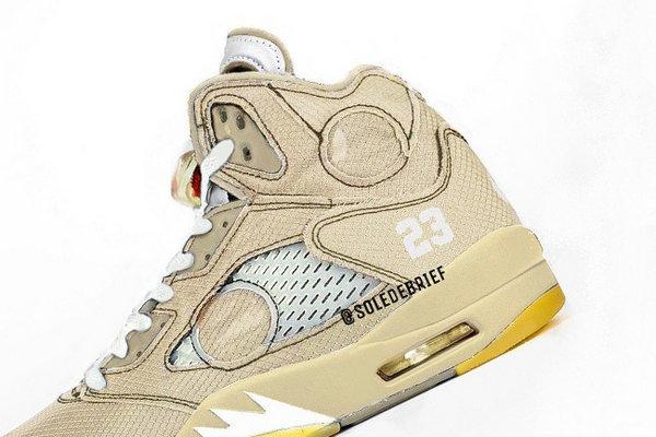 Off-White x AJ5 联名鞋款全新卡其色版本首次曝光