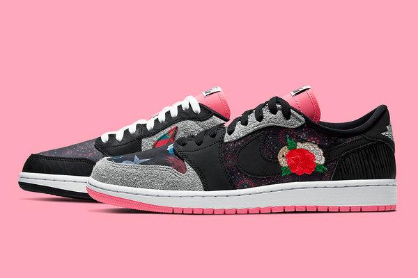 AJ1 Low 鞋款全新中国新年配色官图释出,花卉元素吸睛