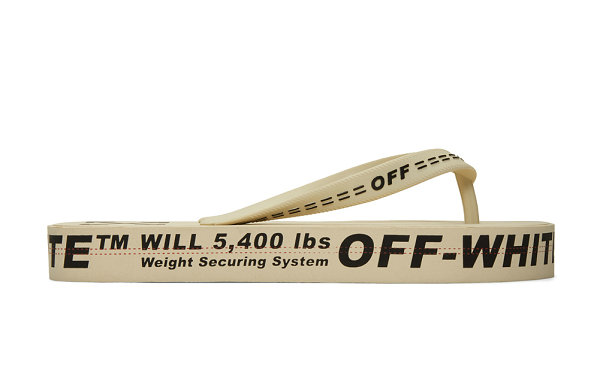 Off-White 工业腰带人字拖系列上市,黄黑沙 3 色可选