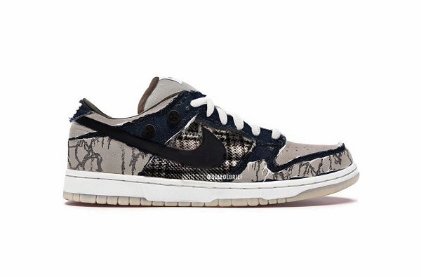 Travis Scott x 耐克联名 Dunk SB Low 鞋款渲染图首次曝光