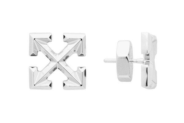 美潮 Off-White 2019 新款 Arrows 银色耳环上架