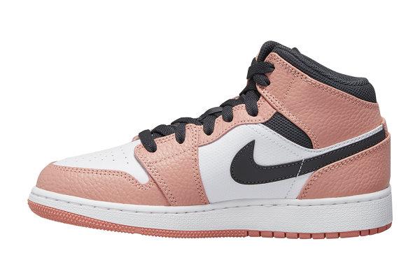 "Air Jordan 1 Mid 樱花粉配色""Pink Quartz""鞋款即将开售"