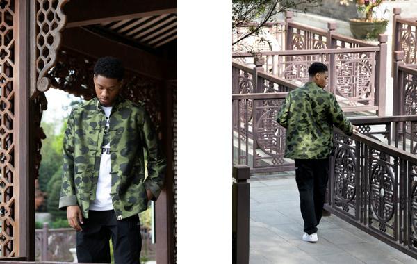 """Bape""""1st Camo""""迷彩中国风外套即将发售,内里军绿色"""