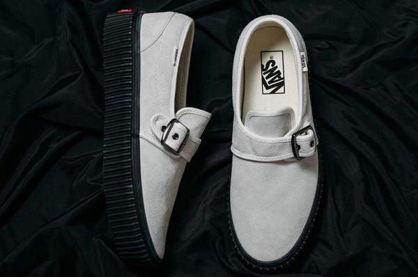 范斯 Style 47 Creeper 黑色绑带厚底鞋款发售,自带增高特效