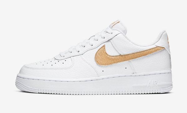Nike Air Force 1 白金配色鞋款来了,钩子材质不同
