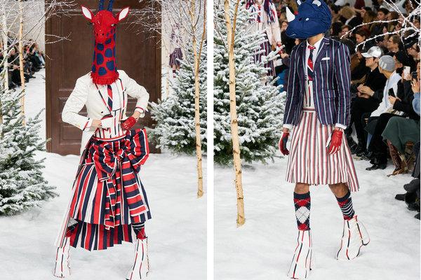 Thom Browne 2020 秋冬系列现身巴黎时装周,动物元素吸睛