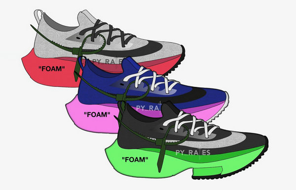 Off-White x 耐克联名 Air Zoom Tempo NEXT% 鞋款系列曝光