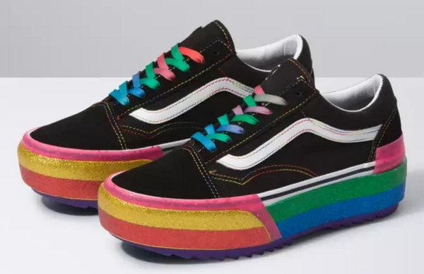 Vans 2020 春季彩虹厚底鞋款系列公布,夸张又吸睛