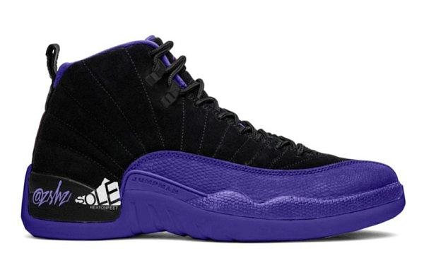 """Air Jordan 12 紫蜥蜴配色""""Dark Concord""""鞋款曝光.jpg"""