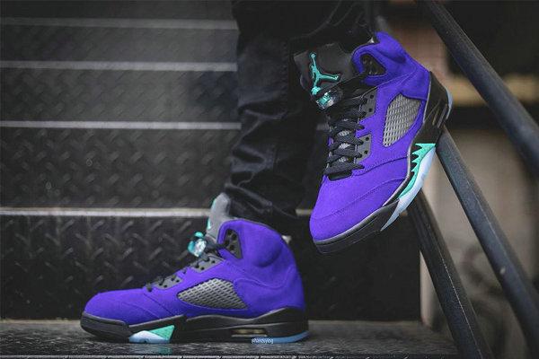 """紫葡萄 Air Jordan 5""""Alternate Grape""""配色鞋款上脚美图赏析"""