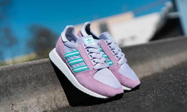 阿迪达斯三叶草 Forest Grove 鞋款清新粉紫配色释出