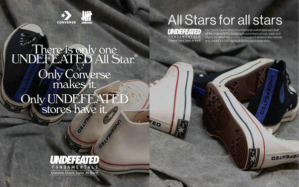 匡威 x UNDEFEATED 全新联名 Chuck 70 系列鞋款即将上架