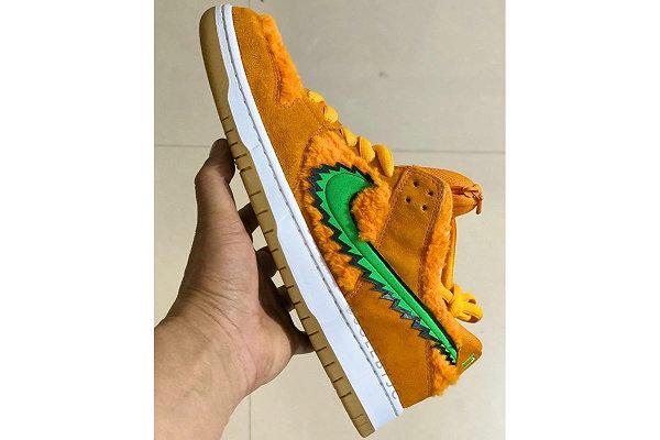 耐克 x Grateful Dead 联名 Dunk SB 橙绿配色鞋款抢先预览
