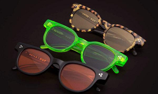 HUF x AKILA 全新联名太阳镜限量胶囊系列上架发售,纯手工制作