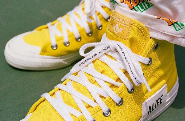 ALIFE x 阿迪达斯联名 Nizza Hi 柠檬黄、黑两色鞋款上架