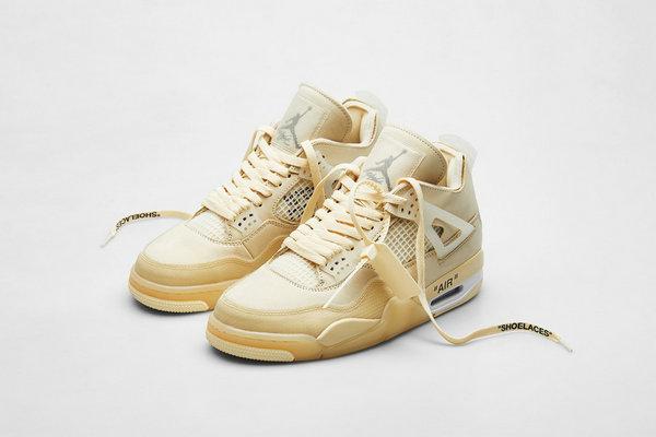 OW x Air Jordan 4 联名鞋款「Sail」配色发售详情释出