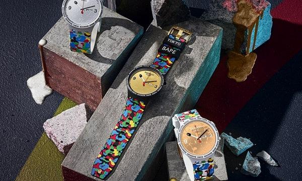 日潮 Bape x Swatch 全新联名别注系列表款即将登陆