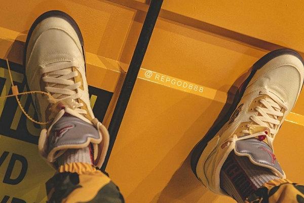 """流川枫 Off-White 联名 AJ5""""Sail""""鞋款上脚图及发售日期释出"""