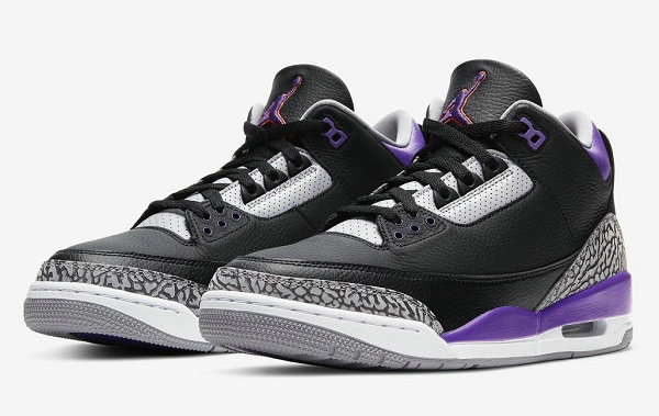 """湖人 AJ3 黑紫配色""""Court Purple""""鞋款下月发售"""