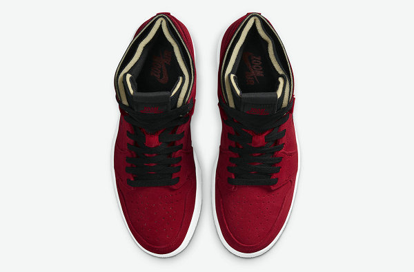 黑红翻毛皮 AJ1 High Zoom 鞋款即将登陆海外市场,气质迷人~