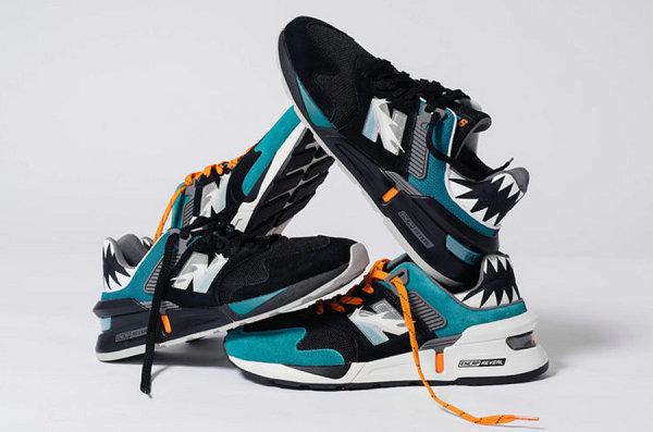 新百伦 x Shoe Palace 联名 997S 鞋款系列亮相,鲨鱼齿装饰!