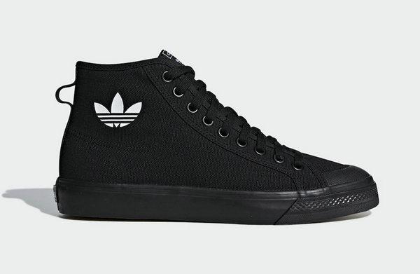 黑武士 adidas Nizza Hi 鞋款官图公布,下月初登陆