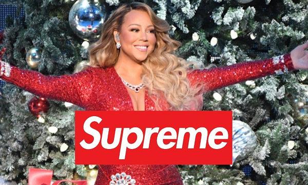 Supreme x Mariah Carey 联名人物 T恤即将登场,圣诞主题