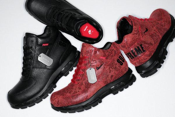 Supreme x Nike 全新联名 Air Max Goadome 鞋款明日登陆