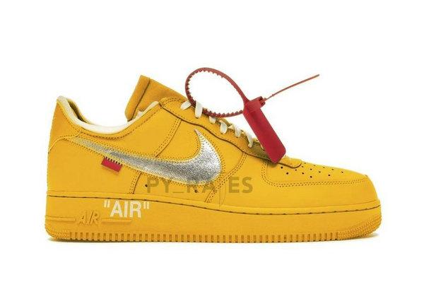 Off-White x AF1 联名鞋款「University Gold」配色释出