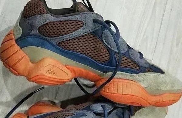 YEEZY 500 蓝棕橙配色鞋款抢先预览,撞色效果醒目