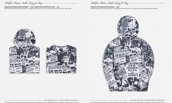 KITH x 马丁·路德·金联名胶囊系列上架,部分收益捐赠