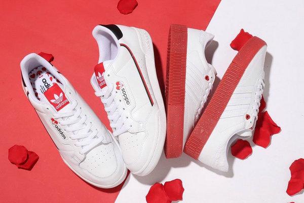 阿迪达斯情人节系列鞋款曝光,两双鞋型更应景