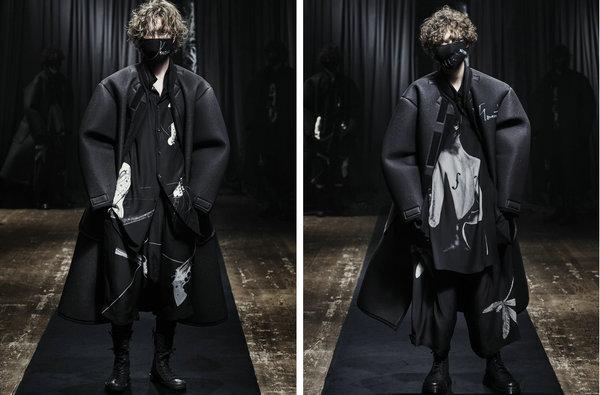 山本耀司 2021 秋冬系列抢先预览,黑色美学的艺术升华