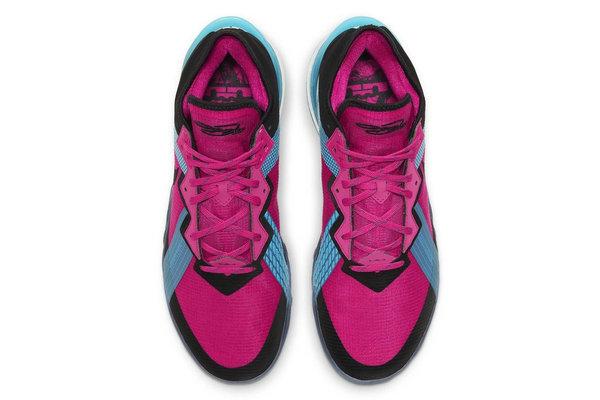 "LeBron 18 Low 全新玫红配色""Fireberry""鞋款曝光~"