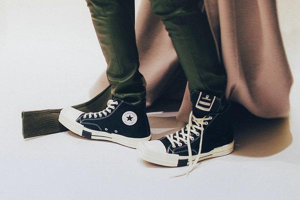 匡威 x Rick Owens 全新联名 TURBODRK Chuck 70 鞋款官图释出