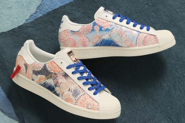 阿迪达斯 Superstar 鞋款富士山烟花配色即将开催