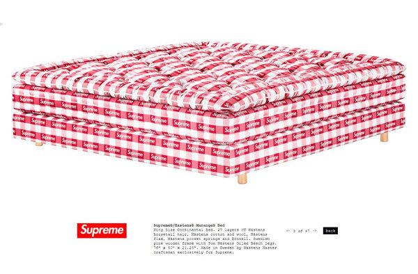 Supreme x Hästens 全新联名床垫抢先预览